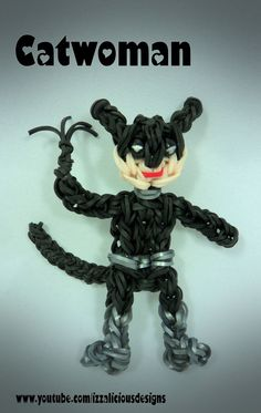 Rainbow Loom Catwoman Action Figure/Charm - Gomitas