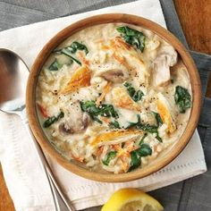 Cream of Chicken and Rice Florentine #myplate