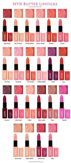 NYX Butter Lipsticks