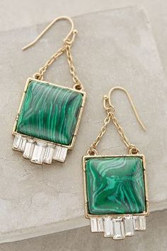 Anthropologie Malachite Peak Drops #anthrofave #anthropologie #shoppingon5th