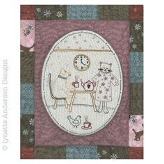 - Comforts of Home - Month 7 Anni Downs, Linnet, Whats New, Outline, Vintage World Maps, Applique, Patches, Diy Crafts, Embroidery