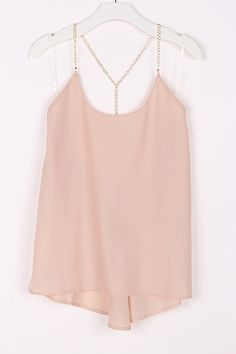 Silky top with chain t-back