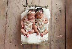 Twins baby girl rompers, newborn photography, twins photoprop, pink lace,