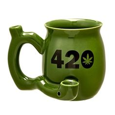 420 Mug - Green Mug With Black 420|fashion craft|