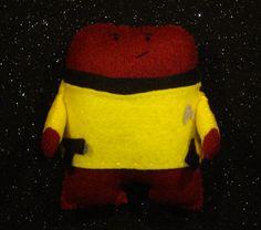 Monster Trek  Captain Kirk  Felt handmade original by MonsterDen