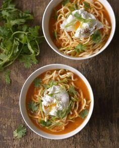Ostrá polévka se zastřeným vejcem