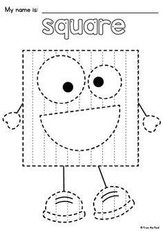Shape Tracing Pages - Basteln Shape Worksheets For Preschool, Shapes Worksheets, Free Preschool, Preschool Crafts, Toddler Learning Activities, Preschool Activities, Kids Learning, Teaching Shapes, Teaching Aids