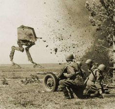 Historic Star Wars Photography: This & Star Wars Was Real& Collection Reimagines World War Images Star Wars Pictures, Star Wars Images, History Online, Cartoon Profile Pics, War Photography, Star Wars Humor, Cultura Pop, Dieselpunk, Star Wars Art