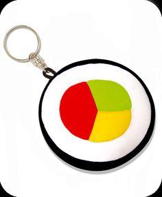 Sushi Lanyard ID Badge Key Holder Keeper Fabric with Sushi Rolls