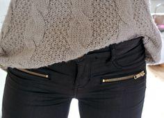 Zipper pants pockets
