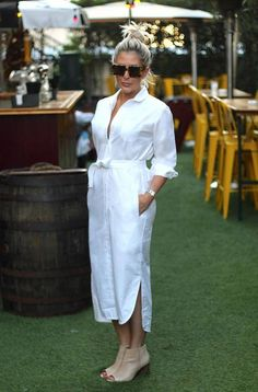 WHITE SHIRT DRESS with sleeves, Button down shirt dress pants, White belted dress, White linen shirt dress White cotton dress, Shift dress – Winter Dresses Bloğ White Linen Shirt, White Linen Dresses, Linen Shirt Dress, White Shirt Dresses, Dress Pants, Linen Pants, Casual Dresses, Casual Outfits, Fashion Dresses