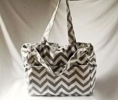 Gray and White Chevron/Zigzag Diaper Bag or by kreationsbykrissy65, $45.00