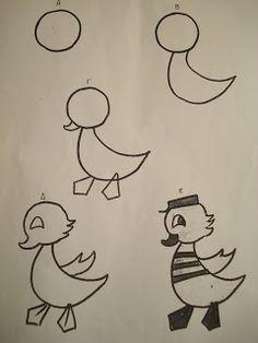 Ζωγραφική βήμα βήμα Learn To Draw, Learn Drawing, Painting For Kids, Snoopy, Drawings, Prints, Blog, Fictional Characters, Hand Embroidery