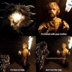 Will Tyrion ride a Dragon? - Best of Game of Thrones Check out our Game of Thrones Merch Store: https://thinkgot.com    {#winteriscoming #gameofthrones #GoT #gameofthronesfamily #jonsnow #instalike #f4f #like #gameofthroneshbo #gameofthronesfan #gameofthronesmemes #westeros #got7 #khaleesi #housestark #nightswatch #youknownothingjonsnow #asongoficeandfire #stark #lannister #daenerystargaryen #targaryen #daenerys #sansastark #tyrionlannister #motherofdragons #housestark #winterfell…