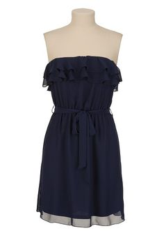 Chiffon Ruffle Tube Dress - maurices.com Outfit possibility for Anniversary pictures!