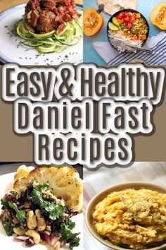 These recipes are all full of good for you nutrients and delicious flavors. Whether you're starting the year with the Daniel Fast or just trying to improve your diet, you will love these meal ideas! #DanielFast #DanielFastRecipes #VeganRecipes Vegan Dinner Recipes, Breakfast Recipes, Healthy Recipes, Daniel Fast Recipes, Easy Chicken Recipes, Easy Meals, Healthy Eating, Keto Cookies, 10 Pounds