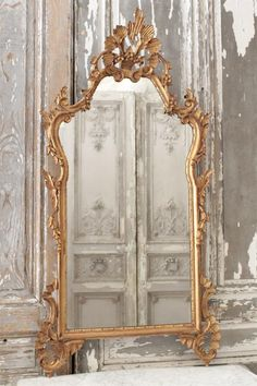 Antique Louis XV Mirror from Full Bloom Cottage