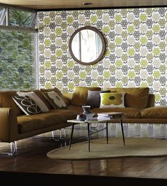 Interior Design Classic, Retro | Orla Kiely, Rhododendron Wallpaper by Harlequin | Jane Clayton
