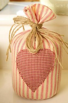 Shabby Chic Ticking & Check  Doorstop
