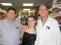 Don, Kelsey, and Bill before Kelsey's prom in 2011.