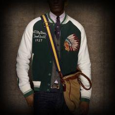 Ralph Lauren Rugby メンズ トラックジャケット ラルフローレンラグビー Vintage Chief Varsity Jacket トラックジャケット-アバクロ 通販 ショップ-【I.T.SHOP】