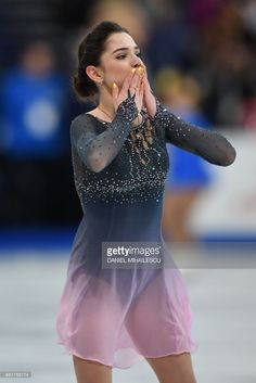 Evgenia Medvedeva of Russia reacts after performing her routine in the woman's Free Skating event at the ISU World Figure Skating Championships in Helsinki, Finland on March 31, 2017. PHOTO / Daniel MIHAILESCU