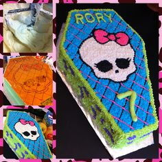 Monster High Birthday Coffin Cake Evolution by booturtle, via Flickr