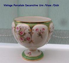 Vintage Porcelain Decorative Urn /Vase /Dish | eBay