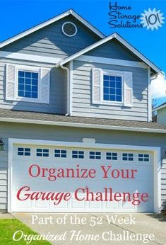Take the organize your garage challenge, which provides step by step instructions for getting this area organized so you can fit your car into the garage, or otherwise use the space the… Garage Organization Tips, Garage Storage Solutions, Storage Ideas, D House, Garage House, Garage Steps, Clean Garage, Organizing Your Home, Organizing Tips