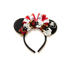 Pirates of the Caribbean Mouse Ears Headband Flower Mouse
