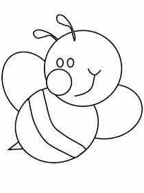 Bumble Bee Coloring Pages Bee Template, Applique Templates, Applique Patterns, Applique Designs, Bee Coloring Pages, Animal Coloring Pages, Coloring Books, Motifs D'appliques, Kids Wallpaper