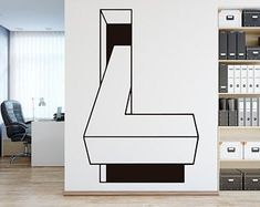 Optical Illusion Decal Home Decor Office Decor Office Wall Office Walls, Office Wall Art, Office Decor, Wall Decor Stickers, Wall Decals, Cool Diy Projects, New Wall, Cool Walls, Optical Illusions