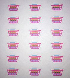 LAUNDRY BASKET Stickers!- Multi-Use Colorful pre-cut stickers! Daily activity stickers for your chores, home, & life!