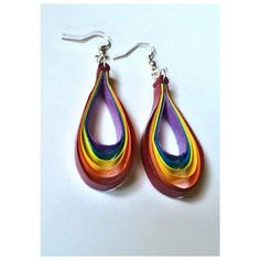 MULTI COLOR QUILLING EARRING