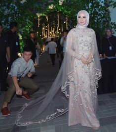 what does a muslim wedding dress look like Muslimah Wedding Dress, Muslim Wedding Dresses, Wedding Gowns, Bridesmaid Dresses, Wedding Lace, Mermaid Wedding, Wedding Hijab, Wedding Attire, Modest Dresses
