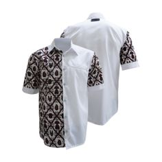 two-fabric shirt option Couples African Outfits, African Clothing For Men, African Men Fashion, African Fashion Dresses, African Attire, African Wear, African Print Shirt, African Shirts, Tribal Shirt