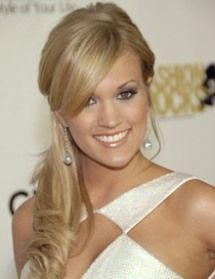I like the pony tail on the side. And of course Carrie !