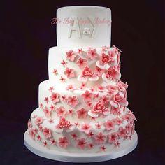 gâteau art déco, décoration entièrement réalisée en pâte a sucre