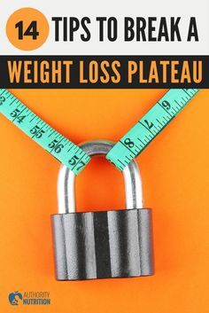 A weight loss plateau is when you temporarily stop losing weight. Here are 14 simple ways to break through a plateau and start losing fat again: https://authoritynutrition.com/weight-loss-plateau/