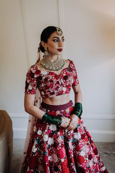 Stunning Indian Wedding Dress in Red and Pink Tones with Bridal Jewellery | By Westlake Photography | Multicultural Wedding | 2020 Wedding | Micro Wedding | Intimate Wedding | Socially Distanced Wedding | Small Wedding | Red Wedding Dress | Indian Wedding Dress | Fusion Wedding | Bridal Jewellery | Bridal Accessories | Bridal Gown | Bridal Two Piece