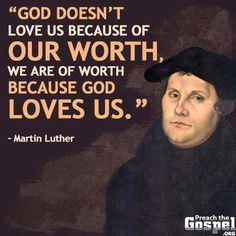 Of worth because God loves us   https://www.facebook.com/depravedwretch/photos/10152453625125761