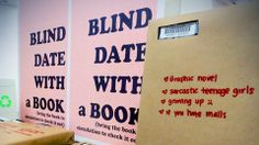 """""""Blind Date with a Book"""" - have everyone bring a book to swap with the cover wrapped up and just a few bullet point descriptions written on it."""