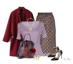 """""""Love this skirt"""" by ksims-1 ❤ liked on Polyvore featuring Marco de Vincenzo, Prada, Vince Camuto, WithChic and Tory Burch"""
