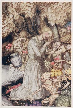Goblin Market by Christina Rossetti | Illustrated by Arthur Rackham | 1933 | British Library | Shelfmark: 11643.cc.64