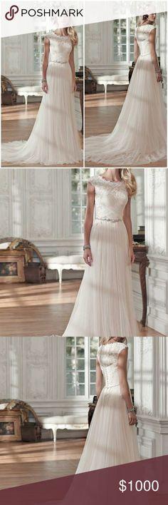 Patience Lynette, Maggie Sottero Wedding Dress Couture Wedding Dress by Maggie Sottero Size 10   Ivory   Lightly Worn Once Maggie Sottero Dresses Wedding