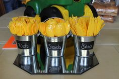Silverware are tools, Construction Theme Birthday Party