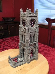 Tell us this is not the coolest dice tower you've ever seen! cathedral / church /part of a castle tower dice rolling tower for DnD / Pathfinder / warhammer fantasy tabletop gaming Tabletop Rpg, Tabletop Games, Fachada Colonial, Hirst Arts, Dice Tower, Dice Box, Dragon Dies, 3d Printing Diy, 3d Prints