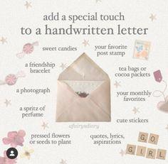 Pen Pal Letters, Love Letters, Letters Mail, Snail Mail Pen Pals, Snail Mail Gifts, Ideias Diy, Handwritten Letters, Happy Mail, Bullet Journal Inspiration