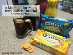 A Moment for Mom = Iced Coffee Tutorial #OREOThinsAreIn #ad