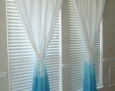 teal dip dye curtains - Google Search